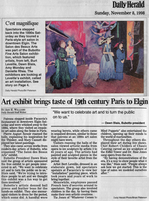 daily herald article including leveille's install 1998