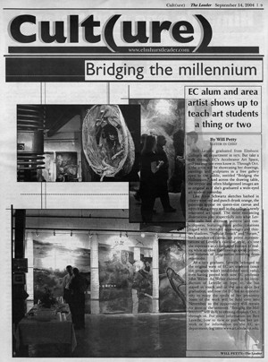 "press for leveille exhibit ""Bridging the millennium"""