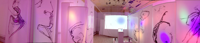 "panoramic view of installation ""the END is the beginning"""